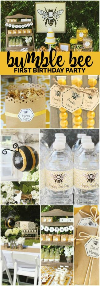 Bumble Bee First Birthday