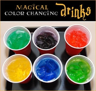 Magical Coloring Changing Drinks