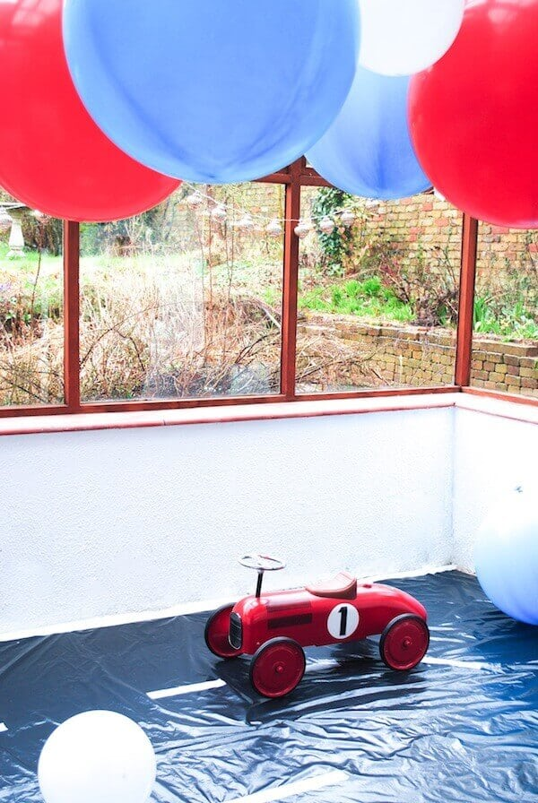 Boys VIntage Racecar themed birthday party