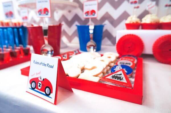 Boys Vintage Themed Racecar party food ideas