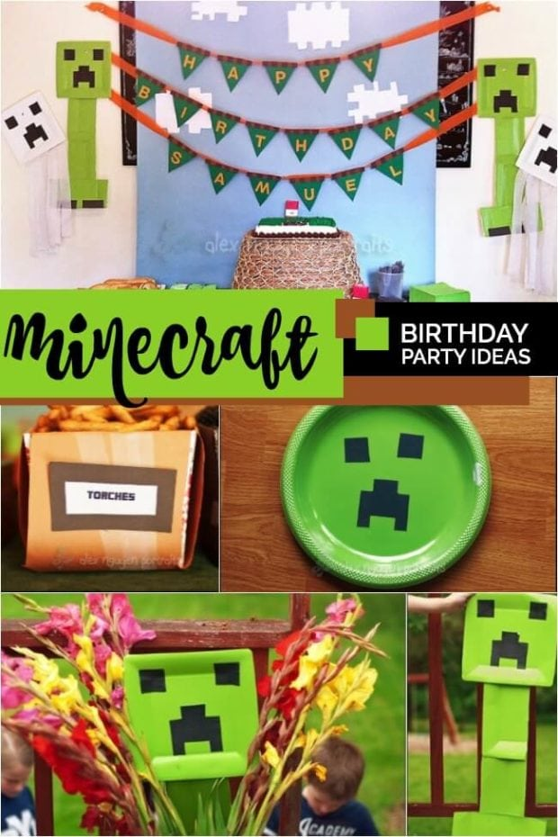 Minecraft Themed Birthday Party Spaceships And Laser Beams