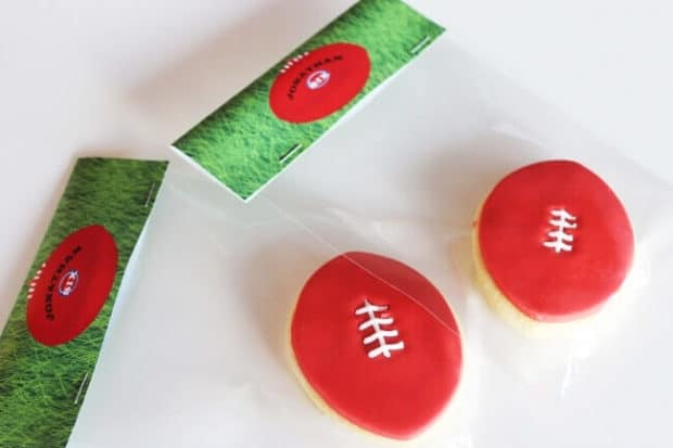 Aussie Rules Football Birthday Party Cookies