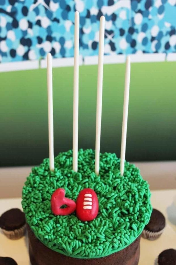 Aussie Rules Football Birthday Party Cake