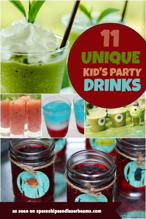Unique Kids Party Drink Ideas