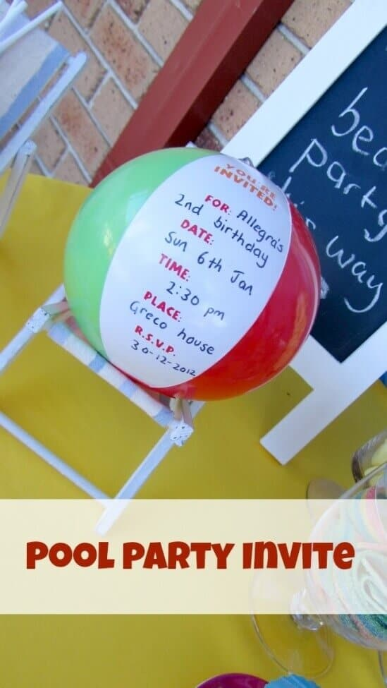 Boys Pool Party Birthday Invitation