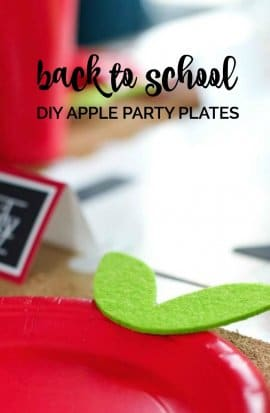 DIY Apple Plates