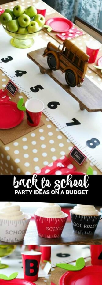 back to school party ideas on a a budget