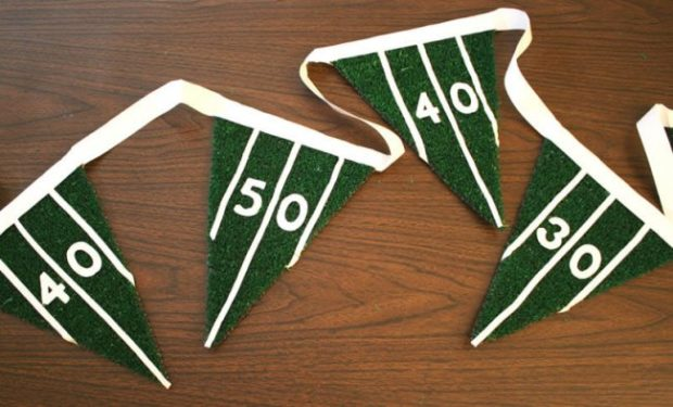 DIY Super Bowl party pennant