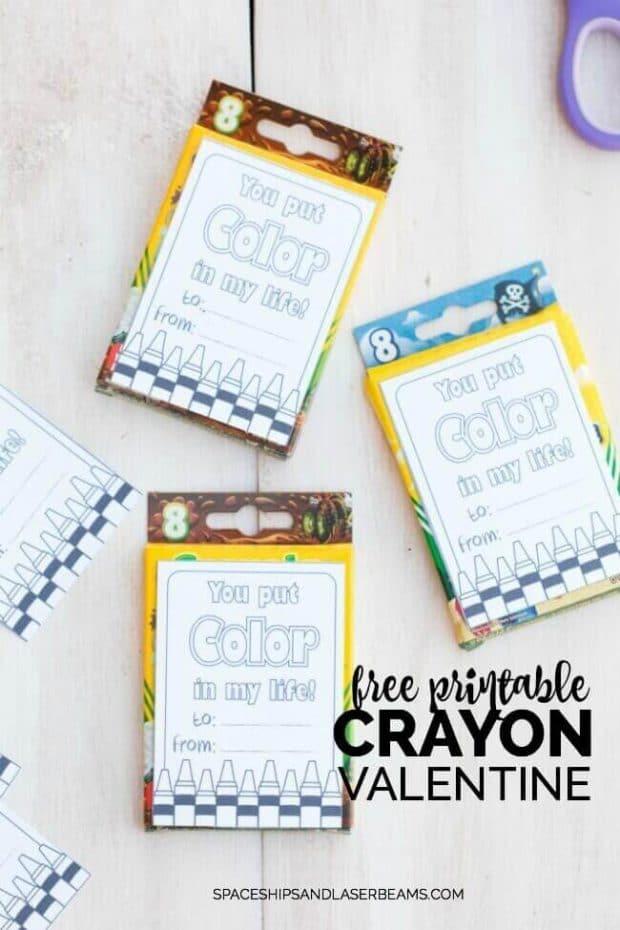 Non-Candy Valentine's Day Idea - Free Printable Crayon Valentine