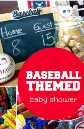 Baseball Baby Shower Decoration Ideas from spaceshipsandlaserbeams.com