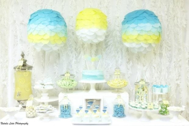 Boys Up And Away Baby Shower Dessert Table