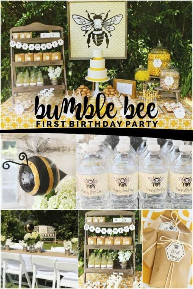 Bumble Bee First Birthday Party