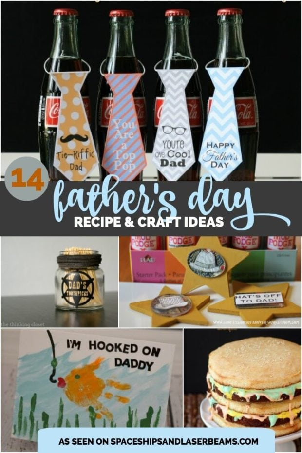14 Father's Day Crafts & Recipes - Spaceships and Laser Beams