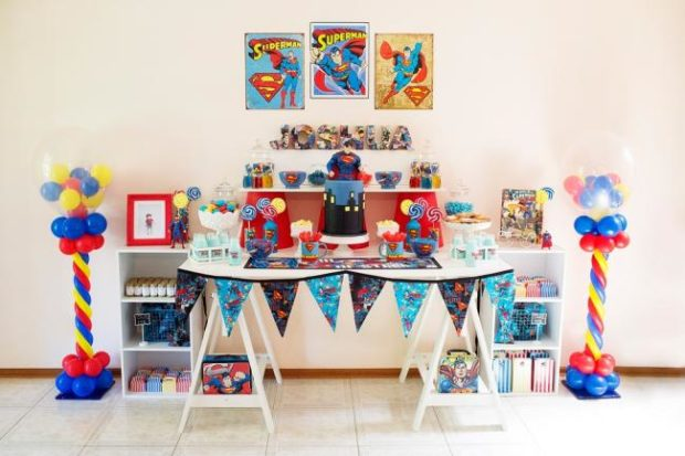 Superman Themed Boy S Birthday Party Spaceships And