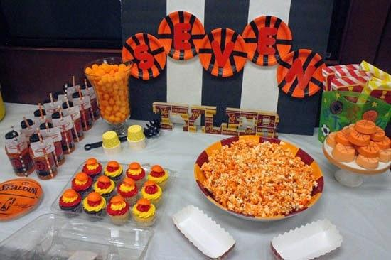 Boy S Basketball Themed Birthday Party Spaceships And
