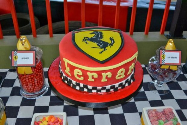 Incredible Ferrari Themed Boy Birthday Party Spaceships And Laser Beams Funny Birthday Cards Online Aboleapandamsfinfo