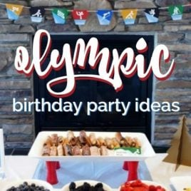 Food on a table, with Party and Birthday