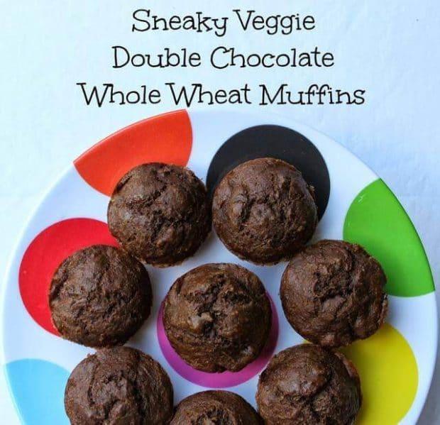 Sneaky Veggie Chocolate Muffins