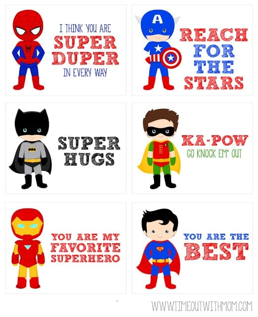 Super Hero Lunch Box Notes