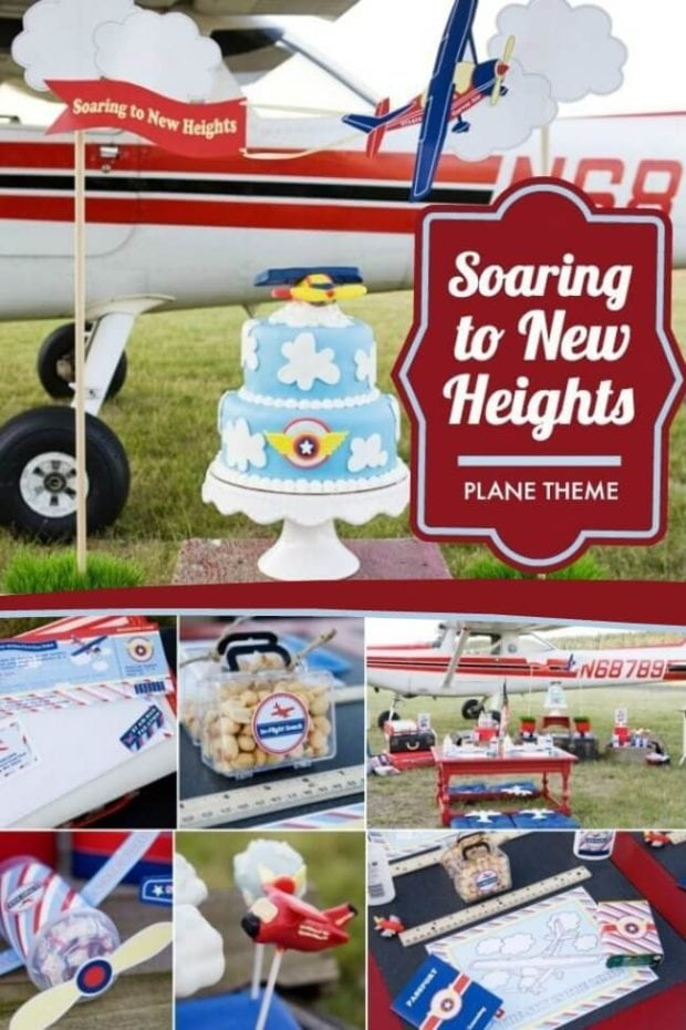 Plane Themed Back to School Party