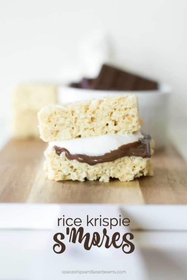 Unique S'mores Recipe - Make them with Rice Krispie Treats!