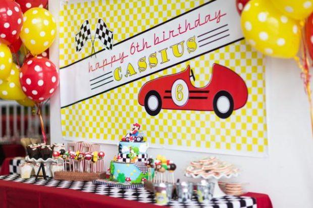 A Boy S Mario Kart Birthday Party Spaceships And Laser Beams