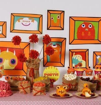 Various stuffed animals on display