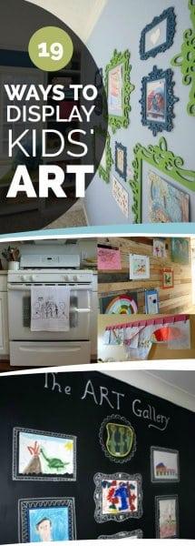 Ways to Display Kids School Art Work