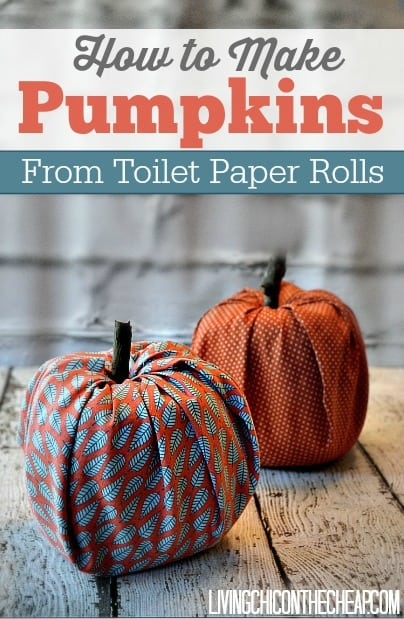 Toilet Paper Roll Pumpkins