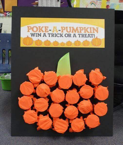 halloween party game poke a pumpkin - Game Ideas For Halloween Party