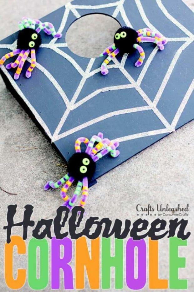 Spider Halloween Corn Hole