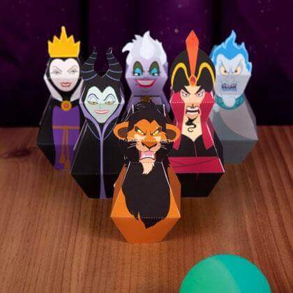 Disney Villians Bowling Game