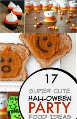 super cute Hallowwen party food ideas for kids