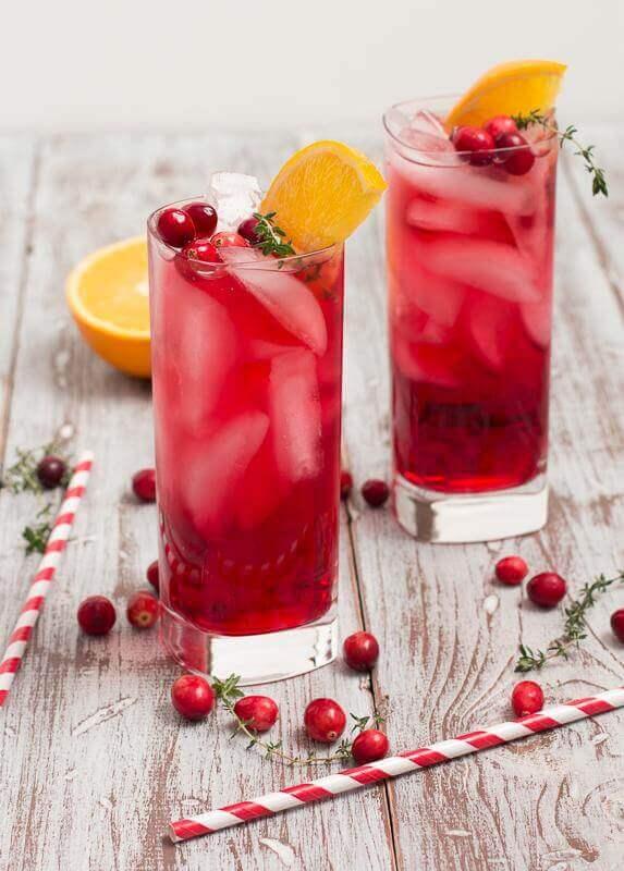 Cranberry Orange Gin Fizz