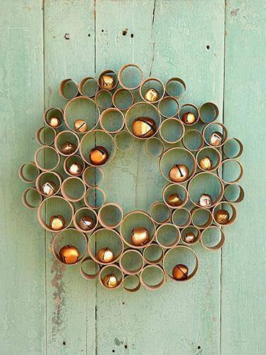 Toilet Paper Roll Crafts Honey Comb Wreath