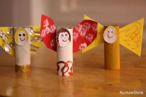 Toilet Paper Roll Crafts Angels