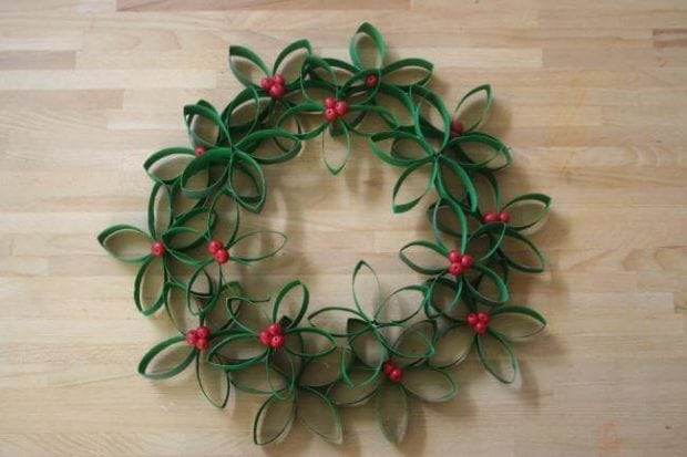 Toilet Paper Roll Crafts Wreath