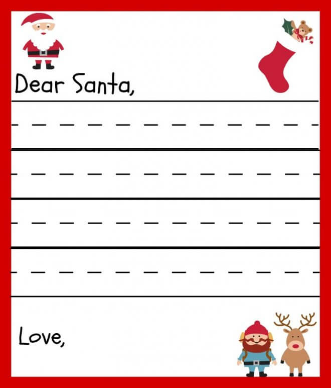 Free Printable Letters To Santa Templates  Spaceships And Laser