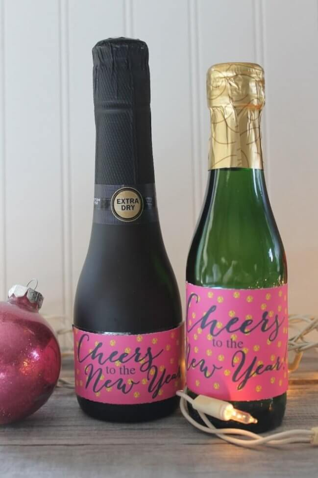 Free New Years Eve Printable Bottle Wraps