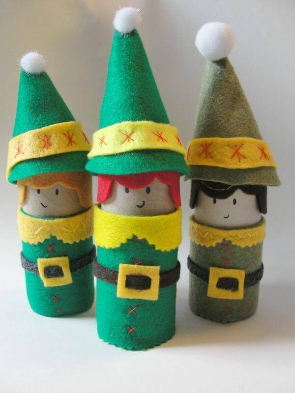 Toilet Paper Roll Crafts Elfs