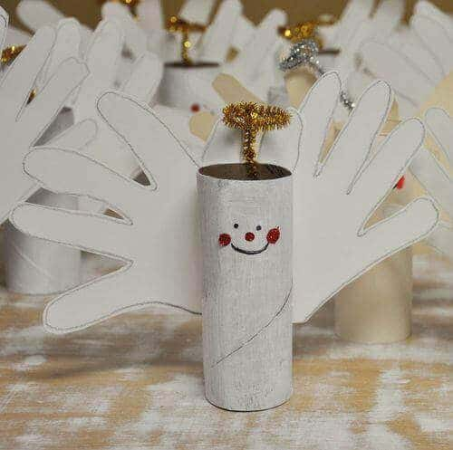 Toilet Paper Roll Crafts Snowman