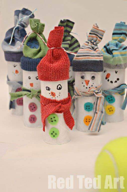 28 christmas crafts made from toilet paper rolls spaceships and toilet paper roll crafts snowman solutioingenieria