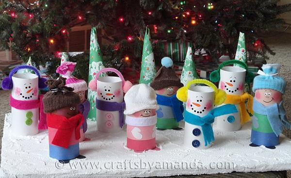 Toilet Paper Roll Crafts Carolers