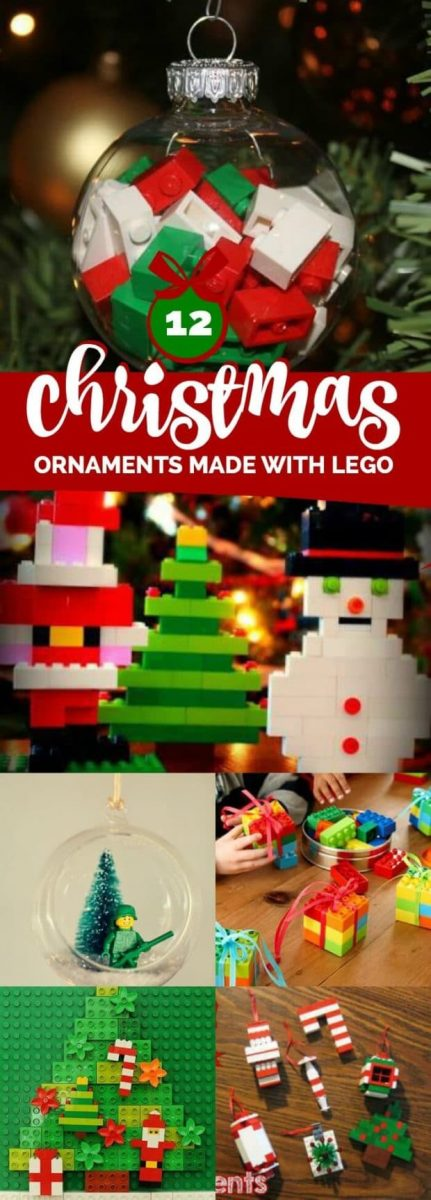 12 Christmas Ornaments Made With Lego Spaceships And Laser Beams