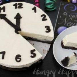 A cake made to look like a clock
