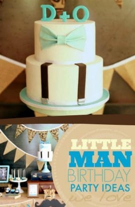 Lille Man Birthday Party Ideas