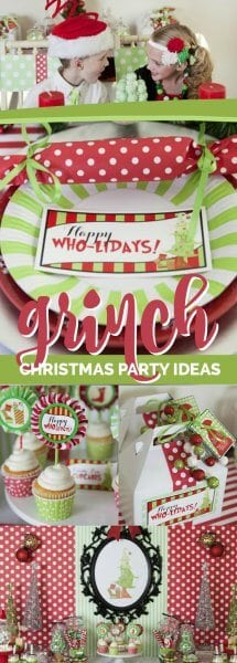Grinch Inspirred Christmas Party