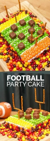 Super Bowl Party Football Field Cake
