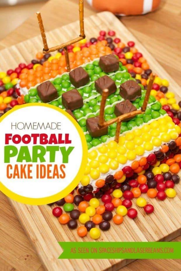 Homemade Football Party Cake Ideas