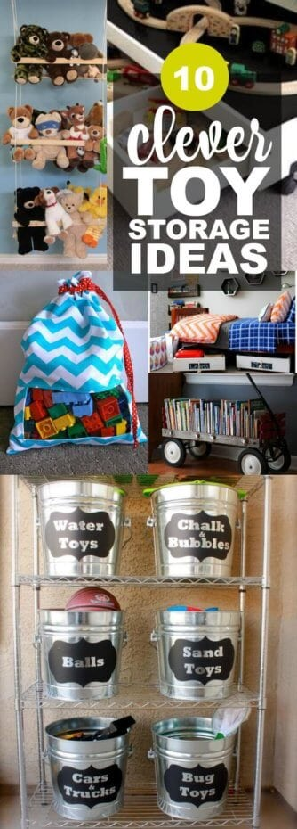 Clever DIY Storage Ideas for Kids Toys